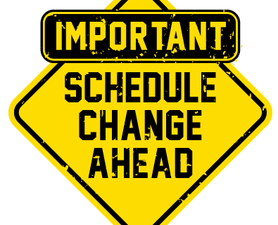 Important-Schedule-Change-Update